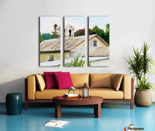 Cummington Barn Roofs Split Canvas print
