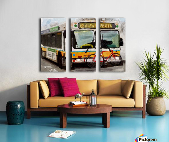 MBTA 62 Bus Split Canvas print