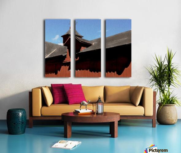 Cummington Bryant Barn Split Canvas print