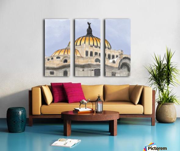 Mexico City Palacio Bellas Artes Split Canvas print