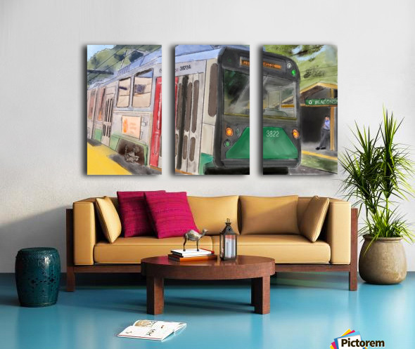 MBTA Green Line Trolly Split Canvas print