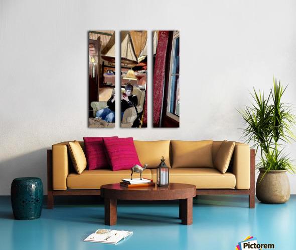 The Hedges Reading Room Split Canvas print