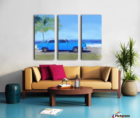 Cuba Blue Car Split Canvas print