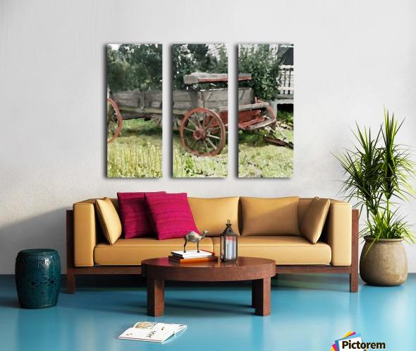Cummington Wagon Split Canvas print