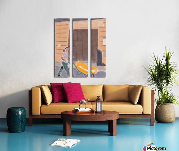 Cuba Wheelbarrow Worker Split Canvas print