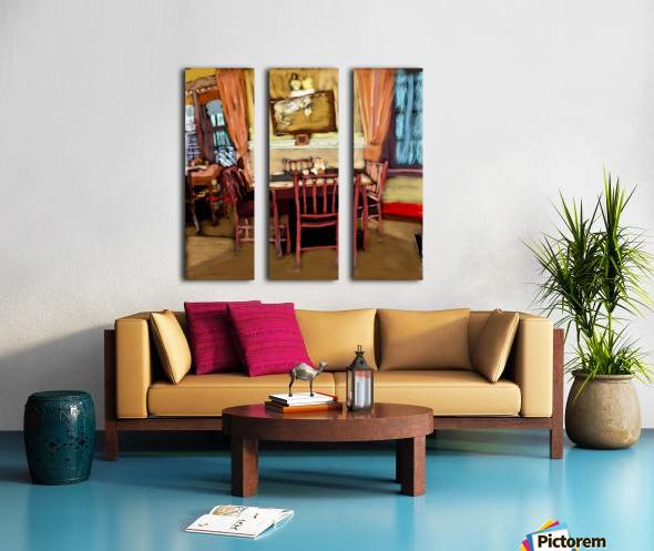 The Hedges Dining Room Split Canvas print