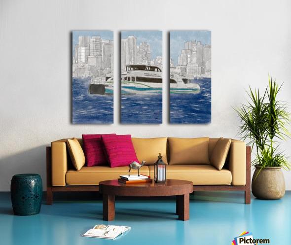 MBTA Hingham-Hull Ferry Split Canvas print