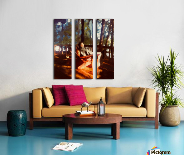 The Hedges Marsha in Repose Split Canvas print
