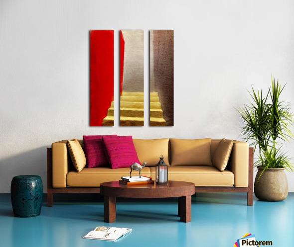Mexico Oaxaca Stairway Split Canvas print