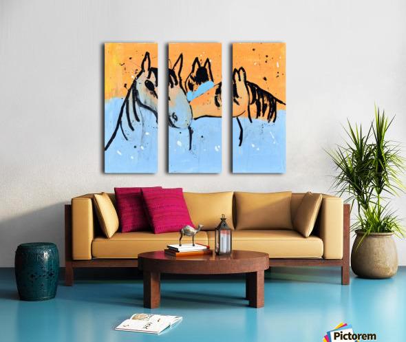 Horses.Davey K. Split Canvas print