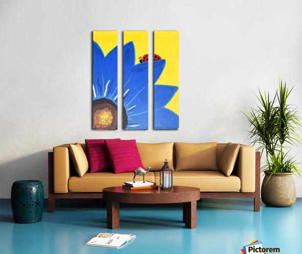 Blue Lady Bug. Maggie Z Split Canvas print