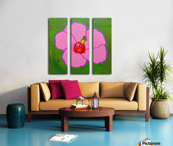 Hibiscus. Annie F Split Canvas print