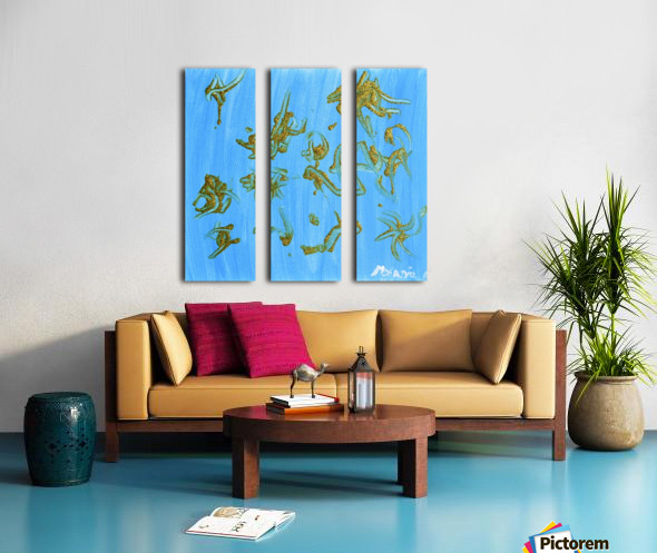 Gold and Blue. Marnie P Split Canvas print