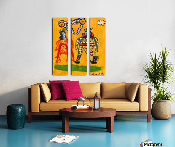 Klimt inspiration. Clyde O. Split Canvas print