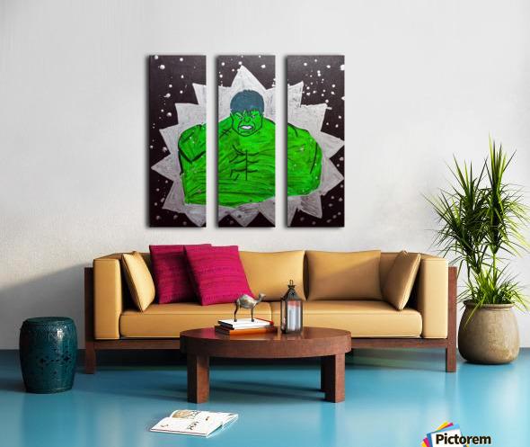 Hulk. Brandon C Split Canvas print