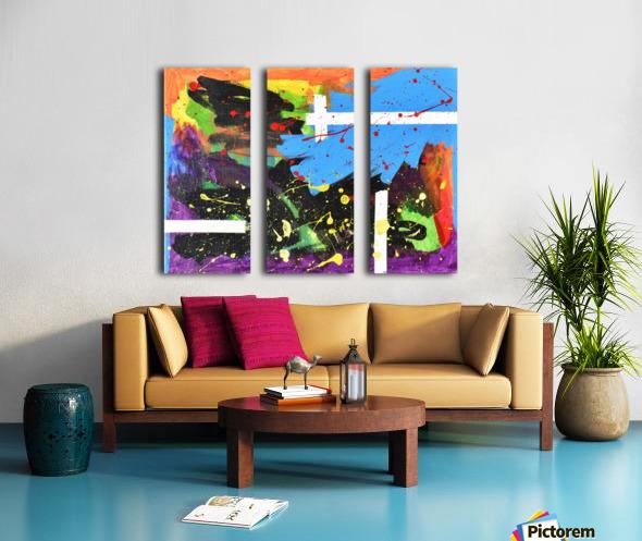 Bright Abstract. Walker W. Split Canvas print