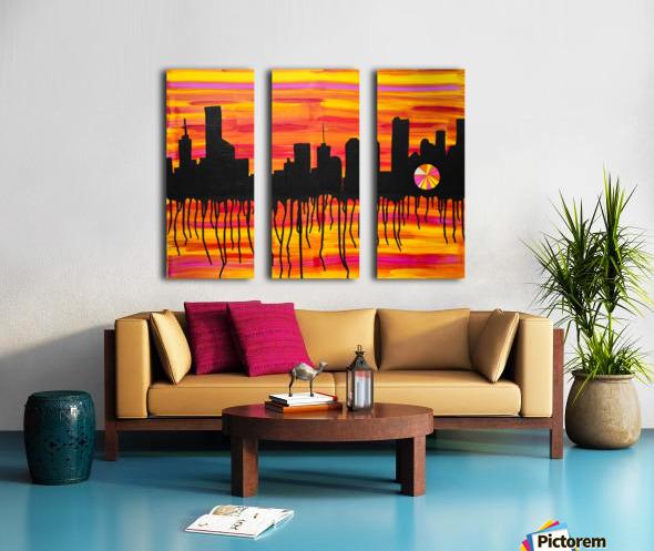 Melting City. Maggie Z Split Canvas print