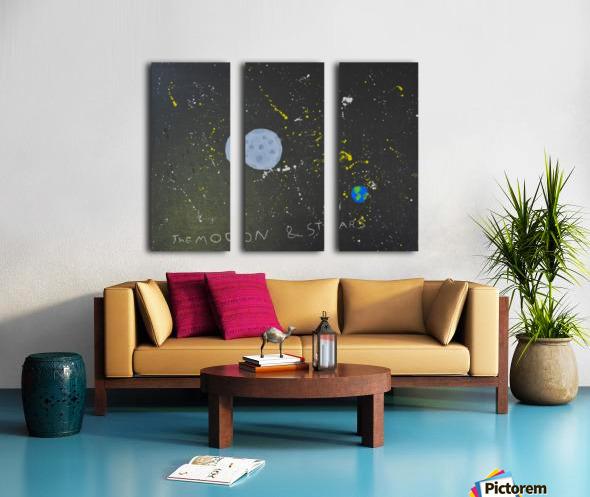 Moon and Stars. David R Split Canvas print