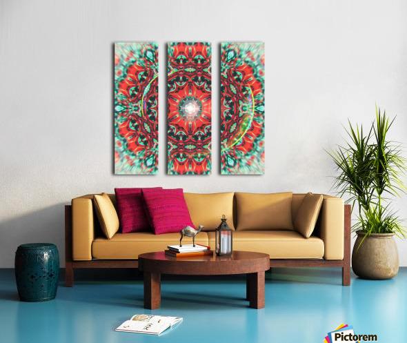 Abstract Mandala I Split Canvas print