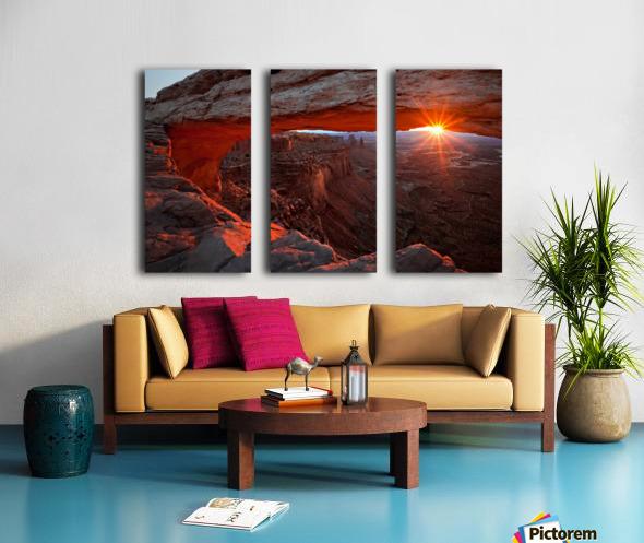 Mesa Arch Sunrise Split Canvas print