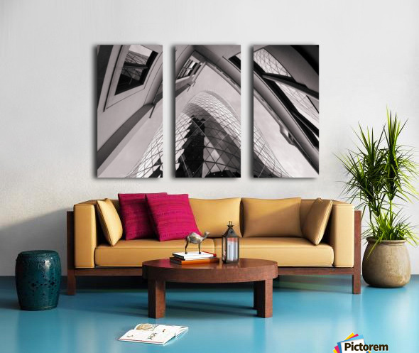 Gherkin Split Canvas print