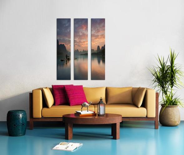 Li River Sunrise Split Canvas print