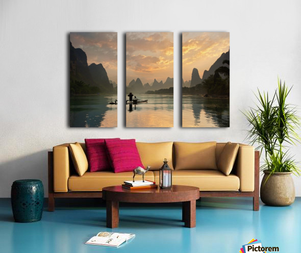 Golden Li River Split Canvas print
