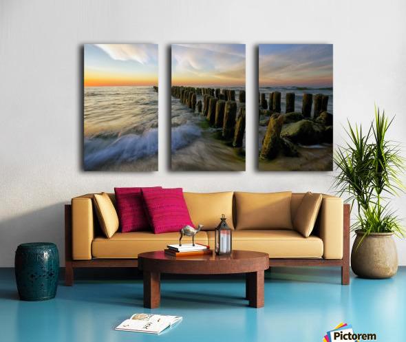 Lace sunset Split Canvas print