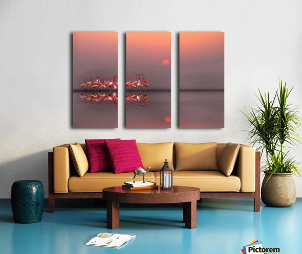 purple sunset Split Canvas print