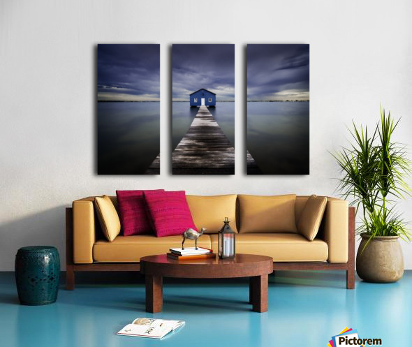 The Blue Boatshed Split Canvas print