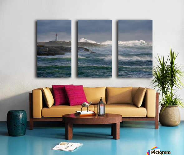 In the Protection of a Lighthouse Split Canvas print