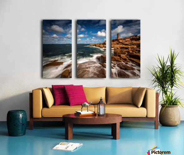 Le phare de Ploumanac'h Split Canvas print