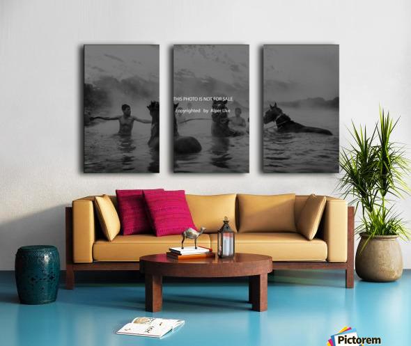 hot  natural  spa  time Split Canvas print