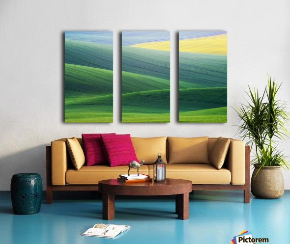 Lines Split Canvas print