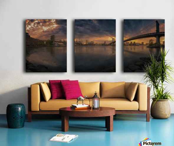 Between bridges Split Canvas print