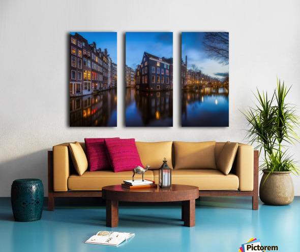 Blue Amsterdam Split Canvas print