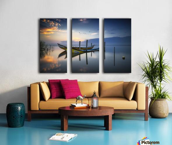 The boats Split Canvas print