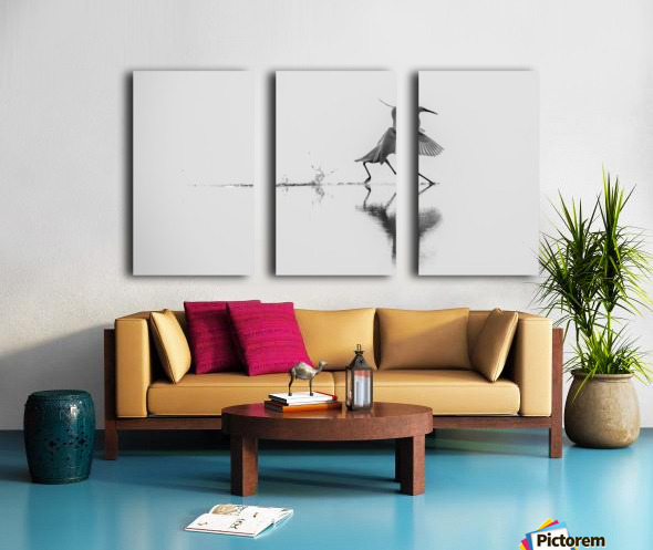 Dancing on the water Split Canvas print