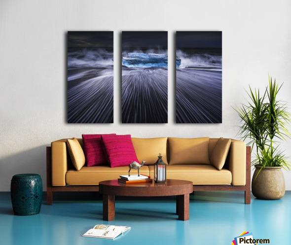 Blue Diamond Split Canvas print