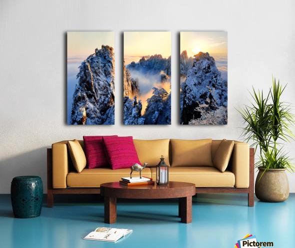 Sunrise at Mt. Huang Shan Split Canvas print