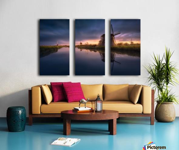 Kinderdijk Windmills Split Canvas print