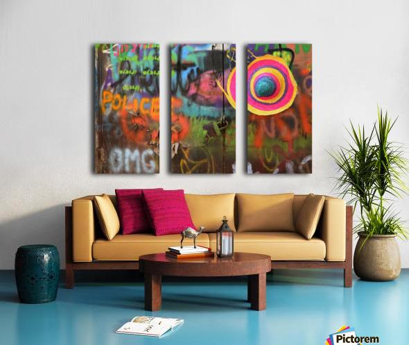 Street colors Split Canvas print