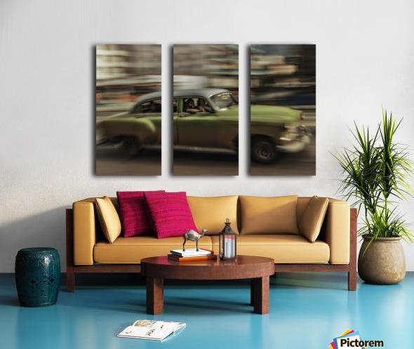 Panning Havana Split Canvas print