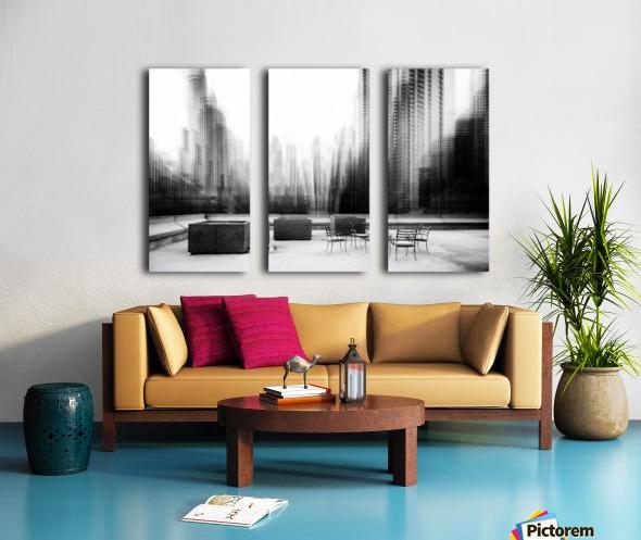 the terrace Split Canvas print
