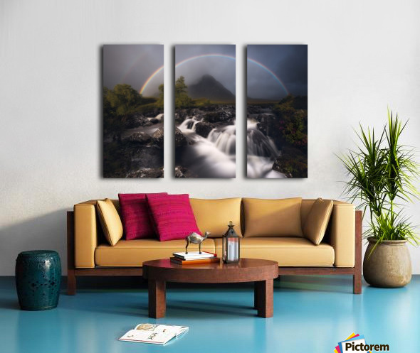 Etive Rainbow Split Canvas print