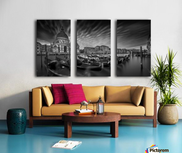 canale grande Split Canvas print