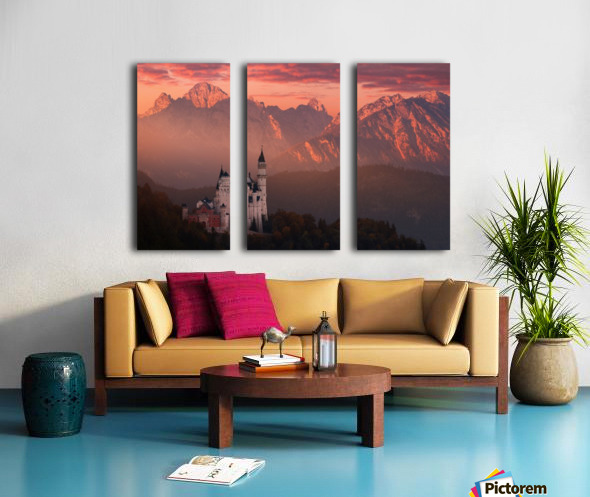Red morning above the castle Split Canvas print
