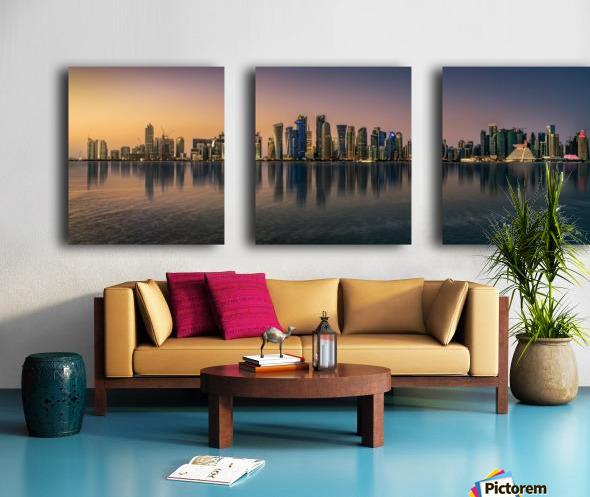 Doha reflections Split Canvas print