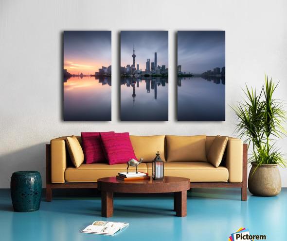 Good Morning Shanghai Split Canvas print