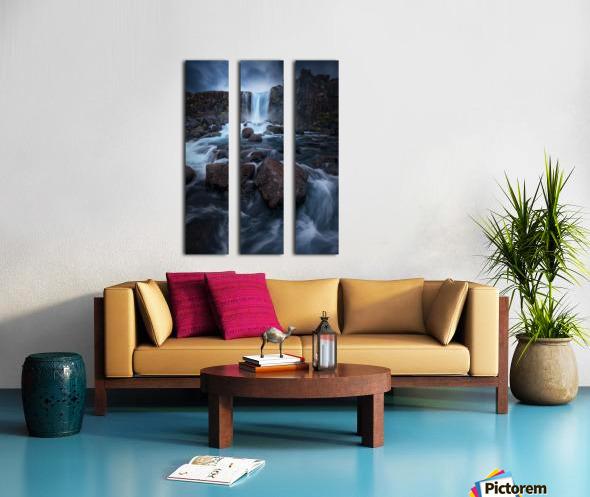 Una cascada. Split Canvas print